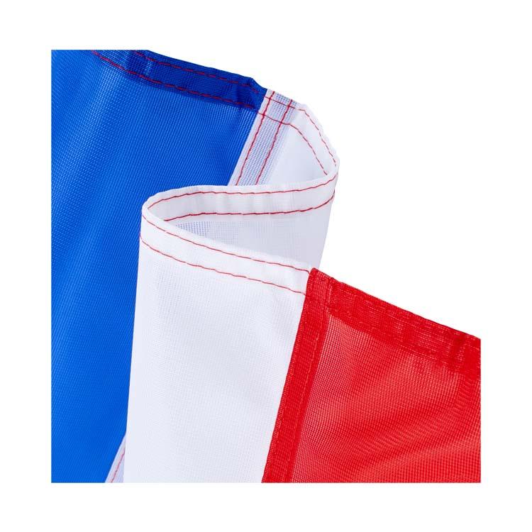 Ourlé en double piqûre du drapeau france
