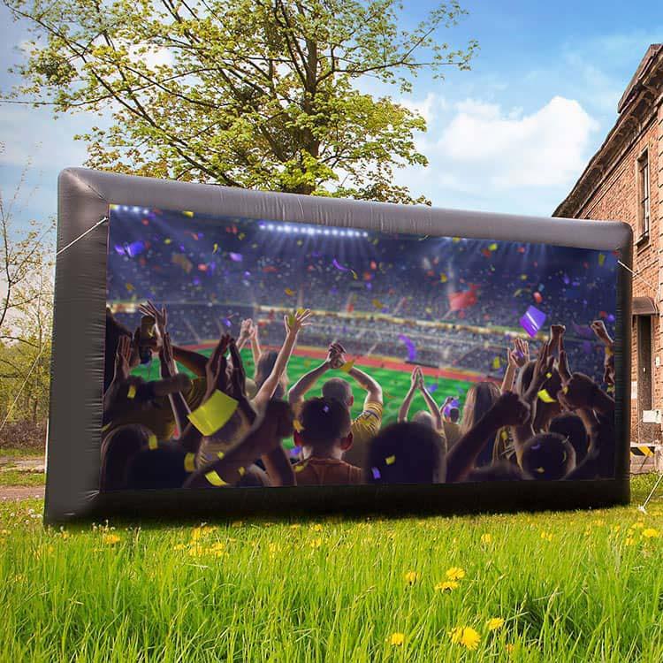 Mur publicitaire gonflable - Visuel supporters