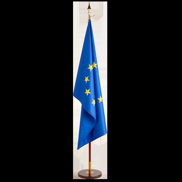 Drapeau Europe sur socle