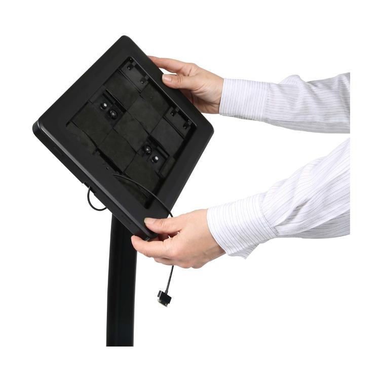 support tablette sur pied tête rotative