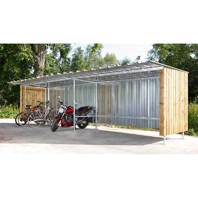 Abri deux-roues Oslo métal bois élément suivant