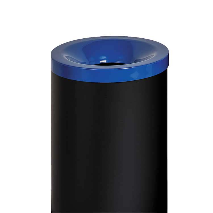 Corbeille anti-feu Autoextint tri sélectif bleue