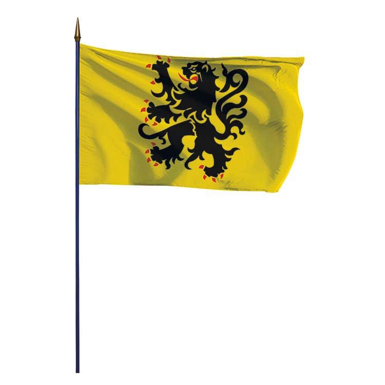 Drapeau province de Flandre sur hampe