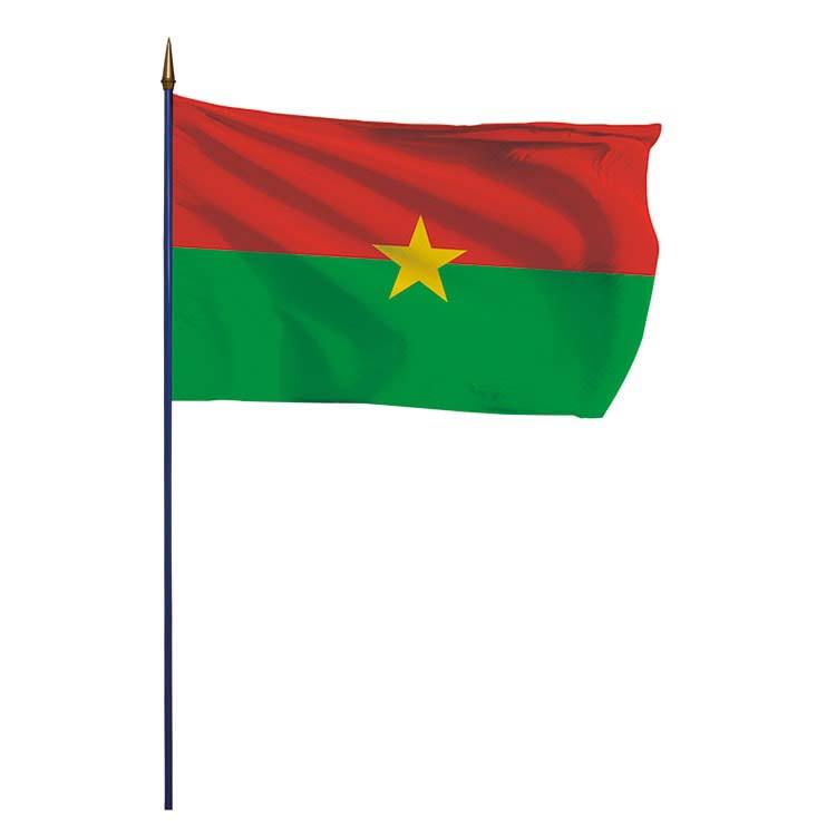 Drapeau Burkina Faso sur hampe
