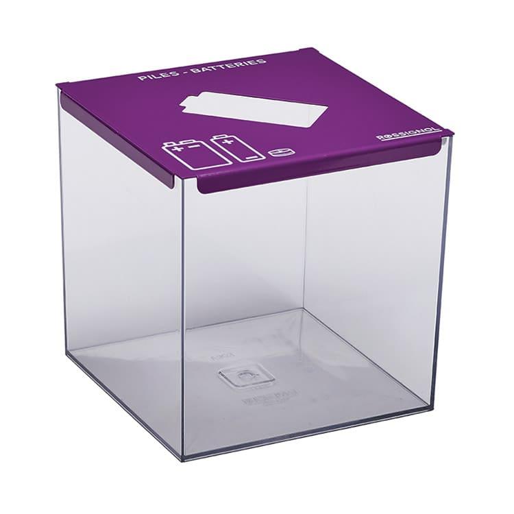 Collecteur de piles Pileo Violet 4008 - 7 L