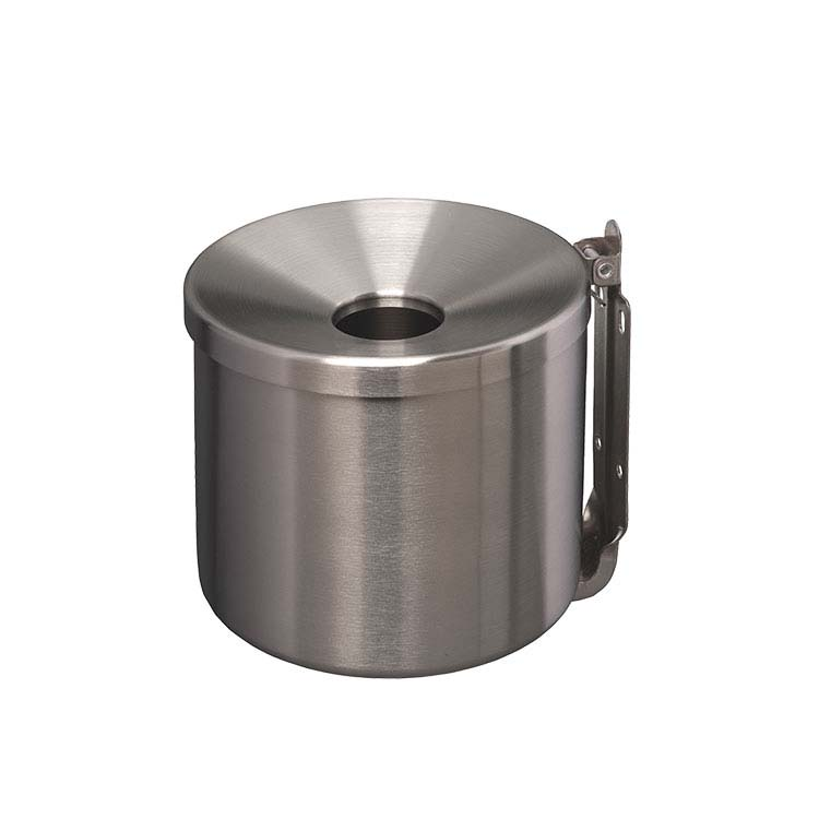 Cendrier mural cylindrique Inox 0.5 litres