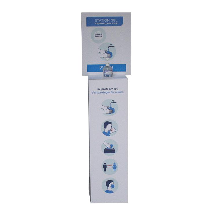 Station gel hydroalcoolique en carton