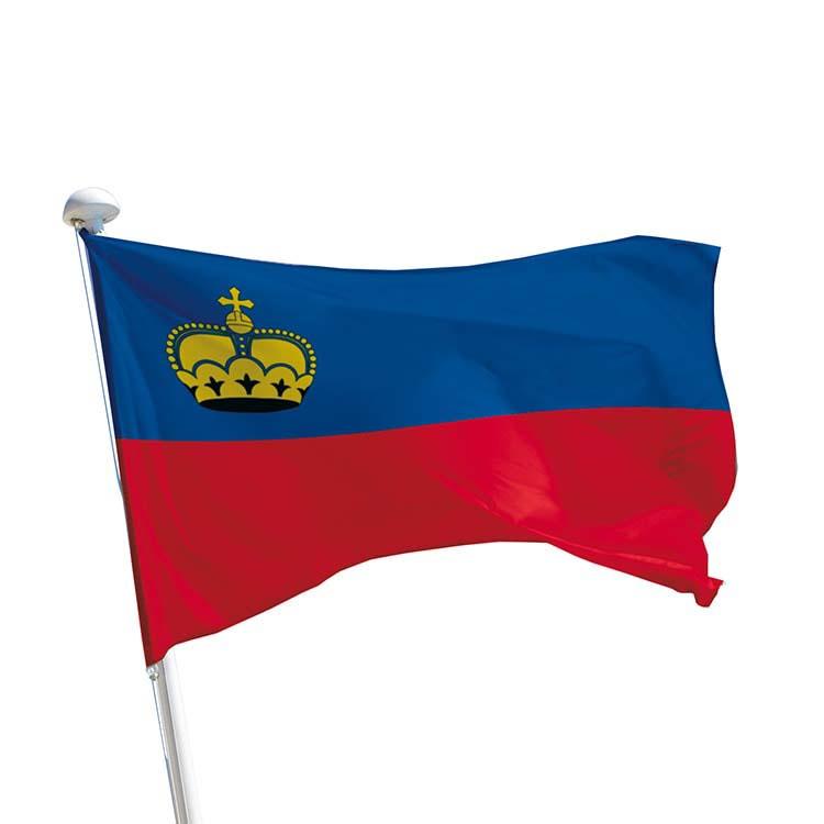 Drapeau Liechtenstein pour mât