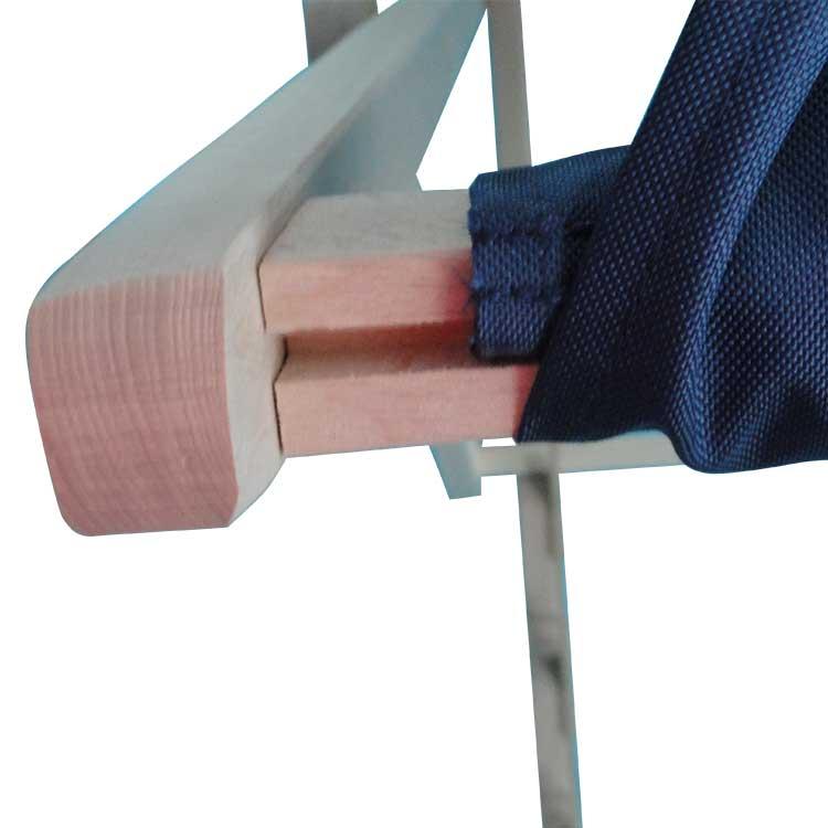 Visuel interchangeable et structure en bois