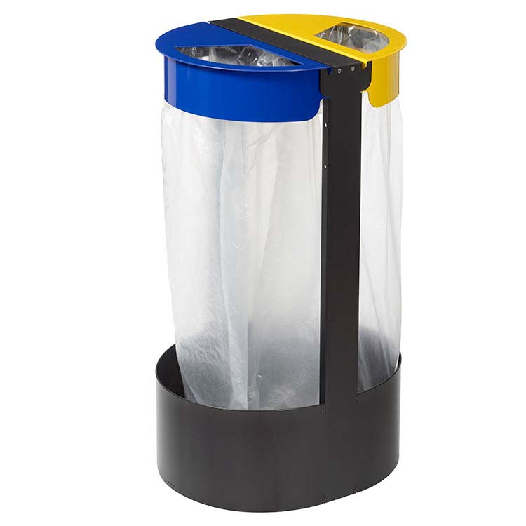 Support sac-poubelle Citwin Premium jaune et bleu