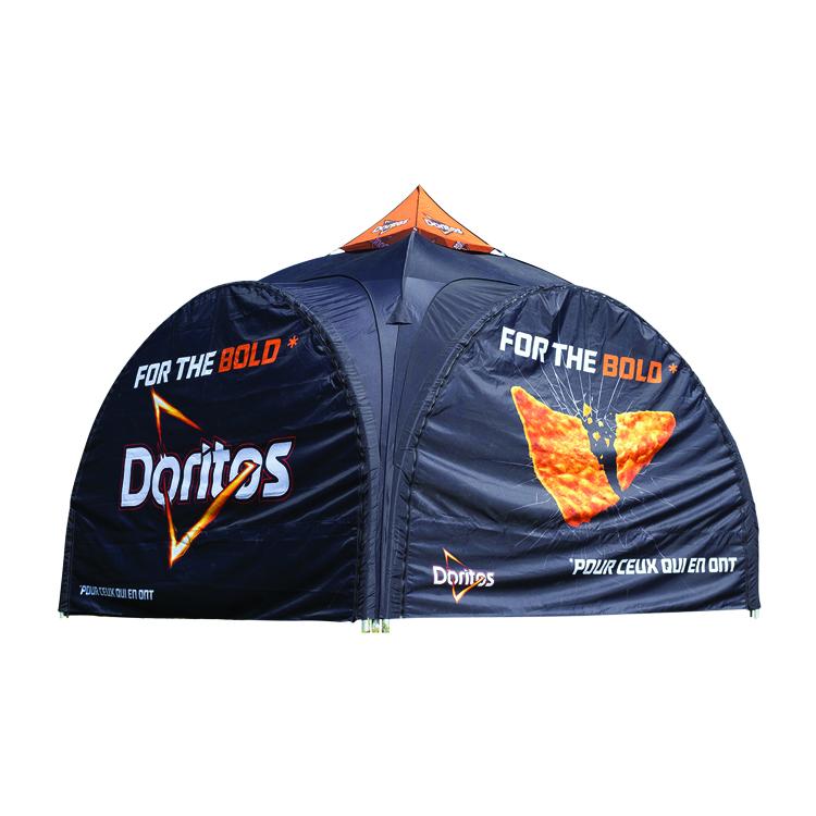 Tente publicitaire Dome Xtrem fermée Doritos