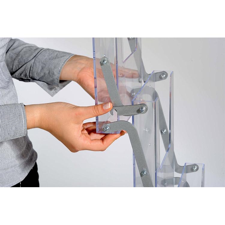 Système d'accroche compartiments présentoir drop