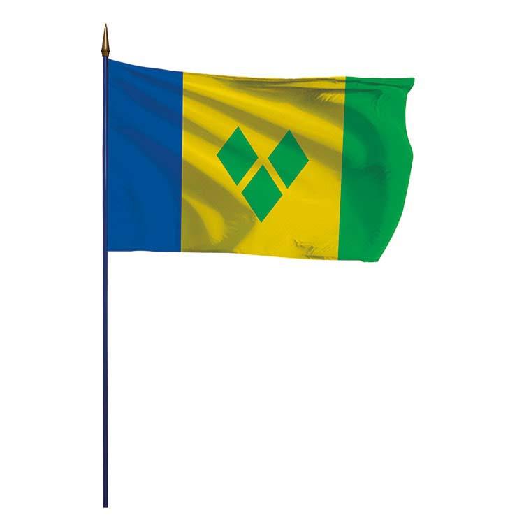 Drapeau Saint-Vincent-et-les Grenadines sur hampe