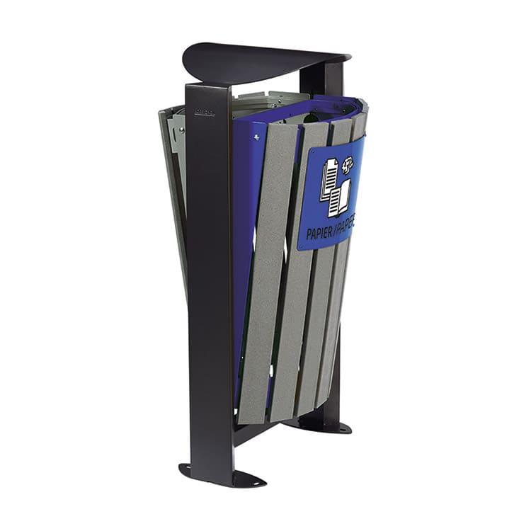 Support sac-poubelle Arkea Etik Gris/bleu - 2 x 60 L