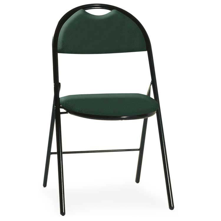 Chaise Roma vinyle assemblable M2 vert