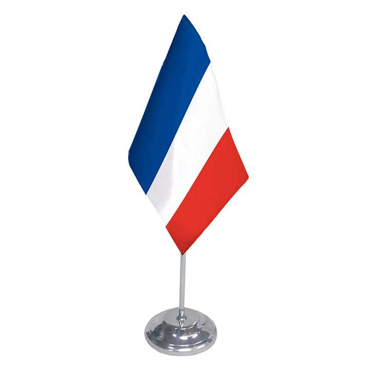 Drapeau de la france miniature en satin