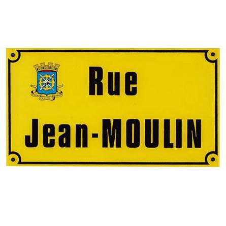 Plaque de rue Harmonicolor