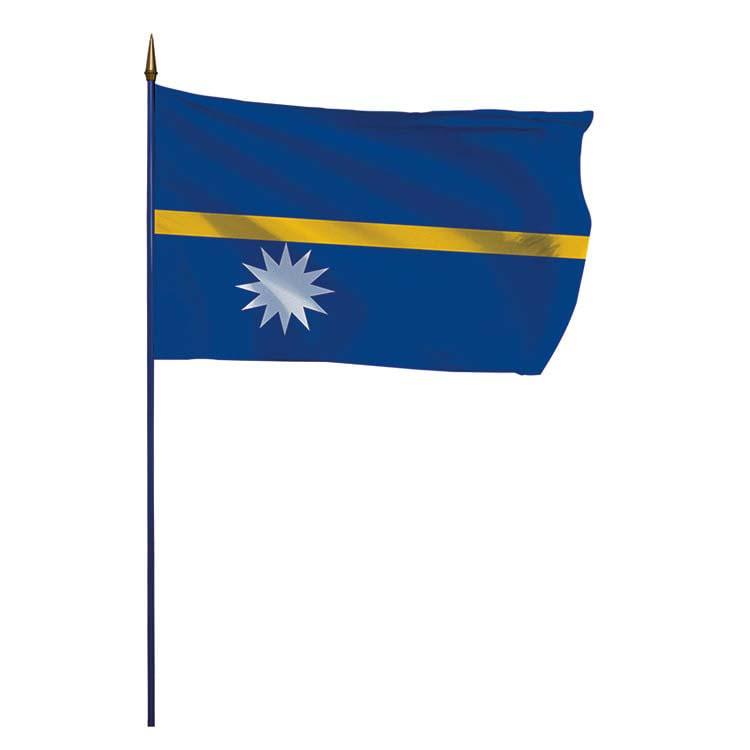 Drapeau Ile Nauru sur hampe