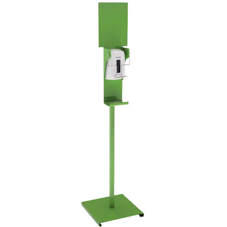 Distributeur gel commande au coude - jaune/vert RAL 6018