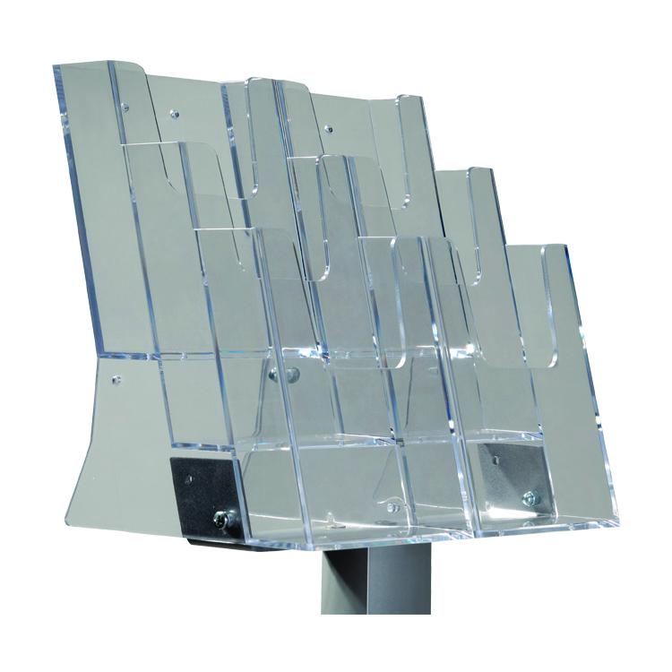 Structure poteau porte-brochures Triple 1/3 A4