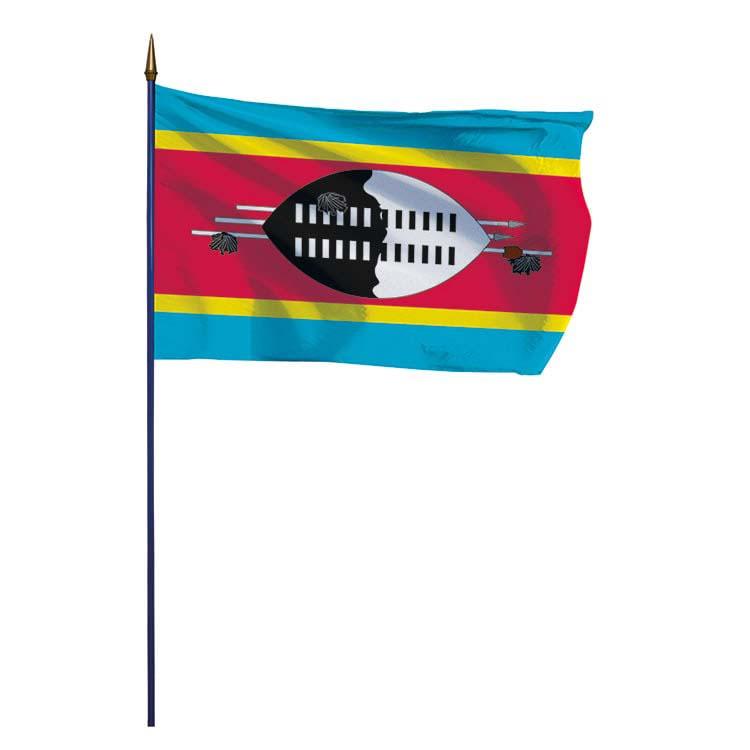 Drapeau Swaziland sur hampe