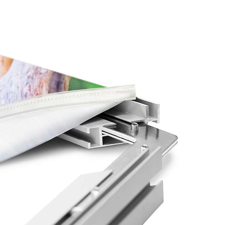 Visuel imprimé du cadre textile sur pied