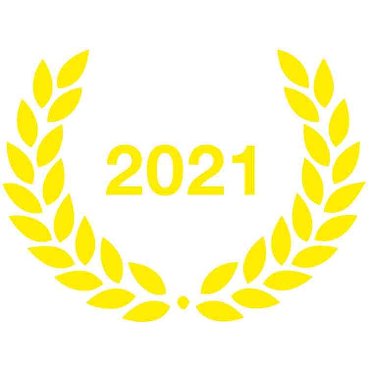 Lauriers adhésifs pour panneau de Ville Active & Sportive 2021
