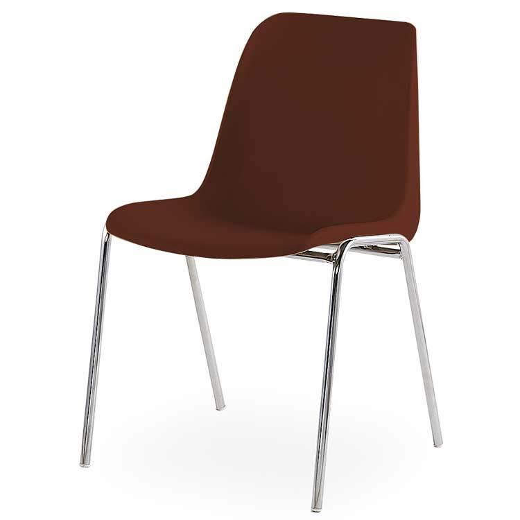 Chaise coque M2 assemblable marron
