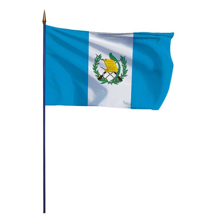 Drapeau Guatemala sur hampe