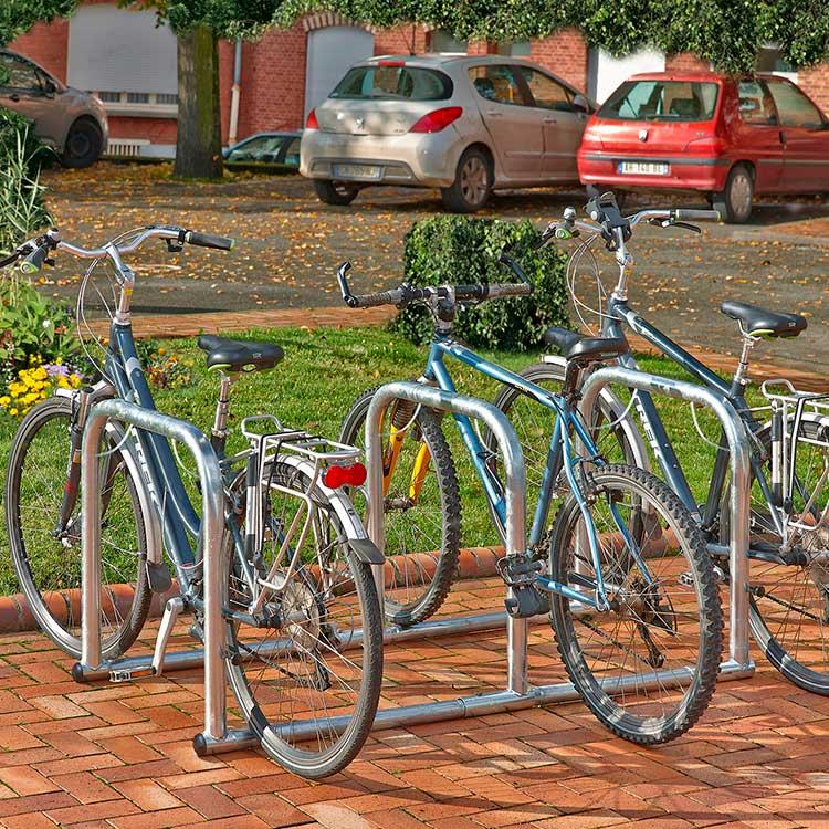 Arceaux pour vélos en ligne 3 cycles