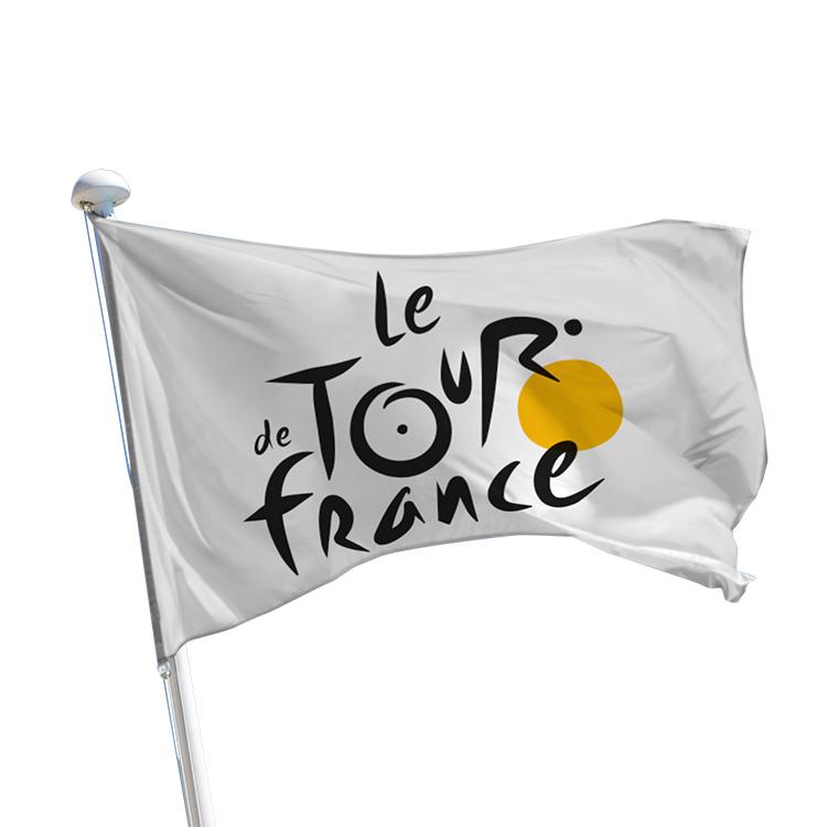 Pavillon Tour de France sur fond blanc