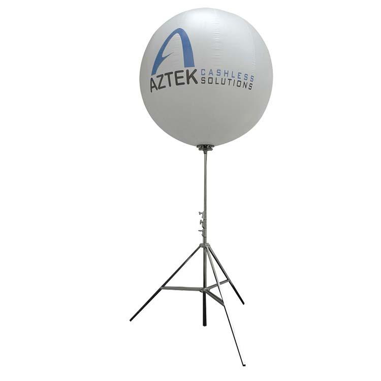 Ballon lumineux personnalisable sur perche