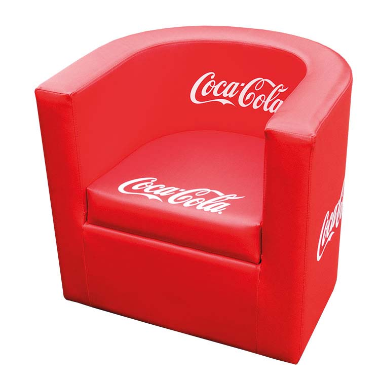 bedruckter Sessel rund