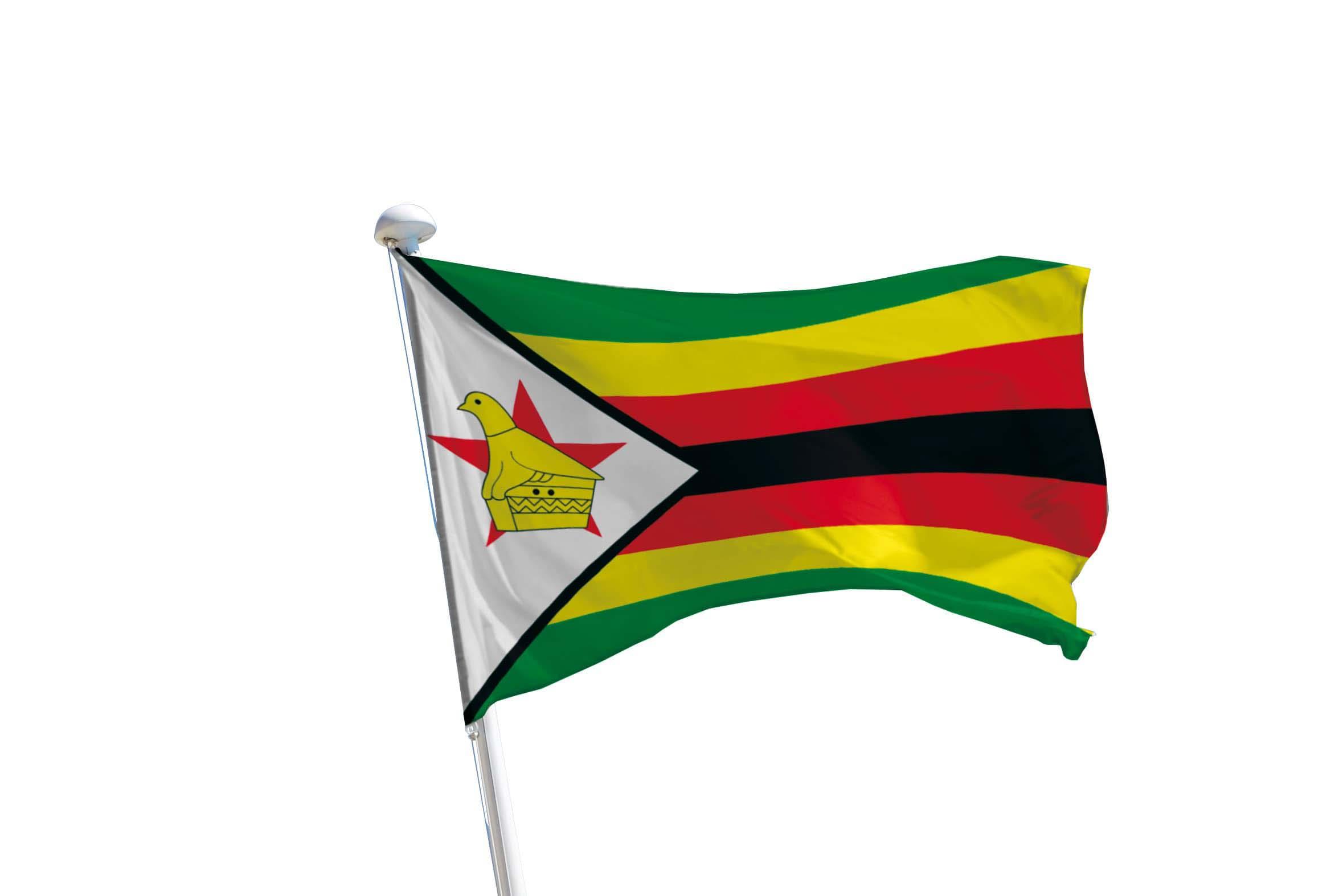 Drapeau Zimbabwe pour mât