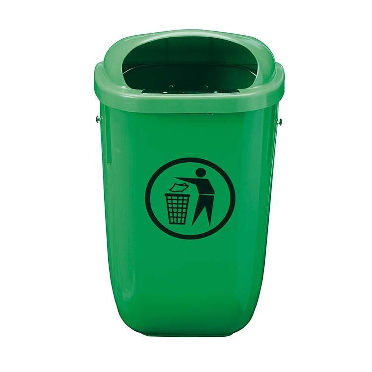 Corbeille Basic murale vert - 50 litres