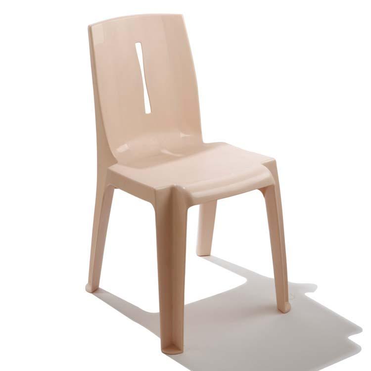Chaise monobloc Salsa beige