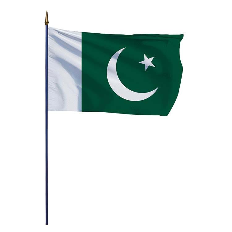 Drapeau Pakistan sur hampe