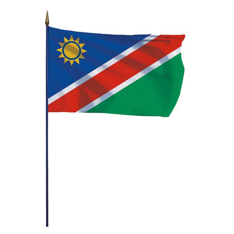 Drapeau Namibie sur hampe