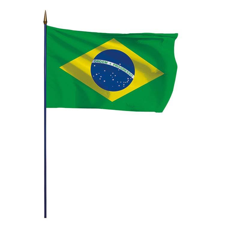 Drapeau Brésil sur hampe