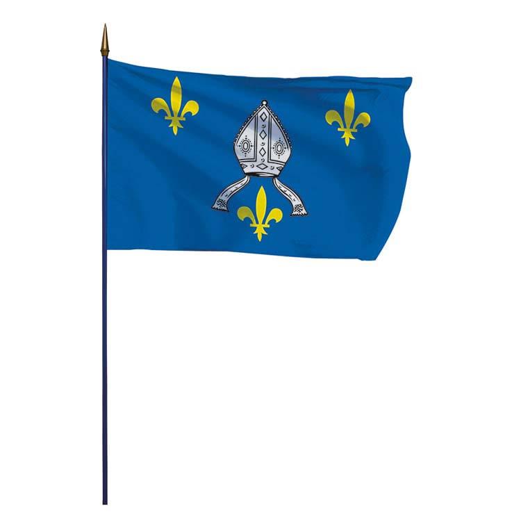 Drapeau de la province de Saintonge sur hampe