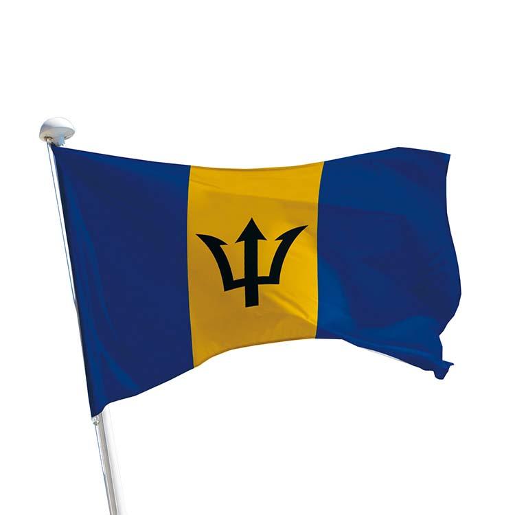 Drapeau Barbade pour mât