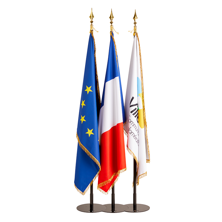 Drapeau France, Europe et personnalisable à frange
