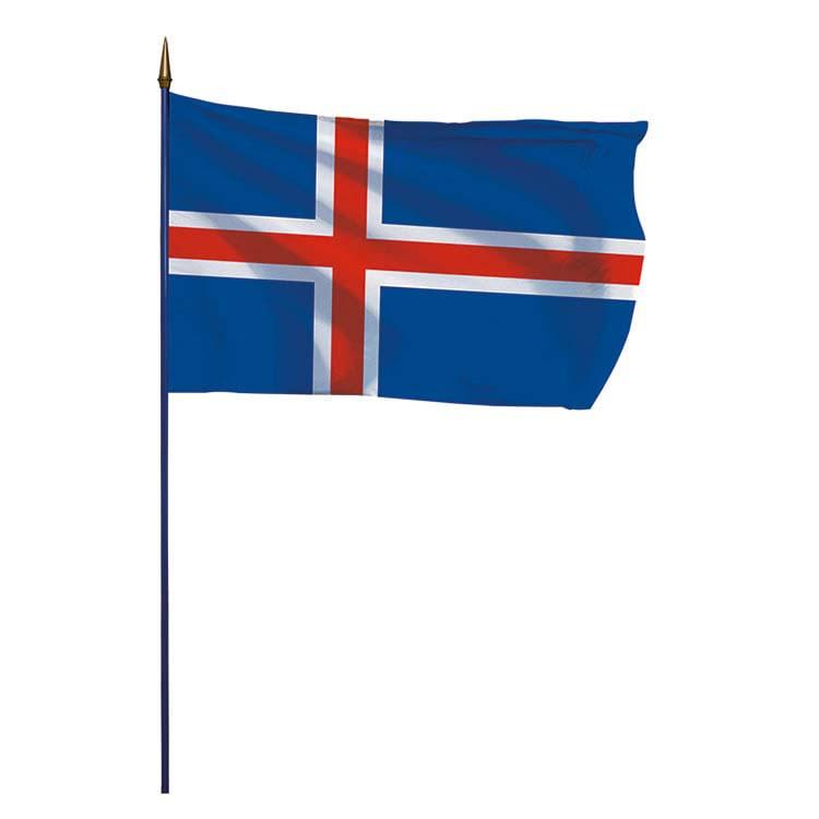 Drapeau Islande sur hampe