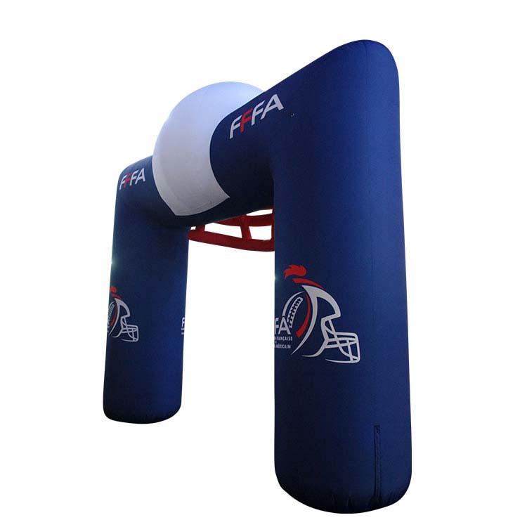 Arche gonflable rectangulaire de dos