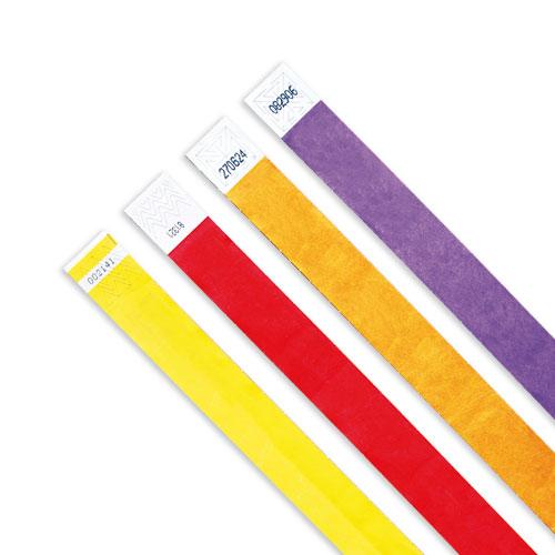 Bracelets d'identification en papier indéchirable