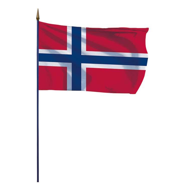 Drapeau Norvège sur hampe