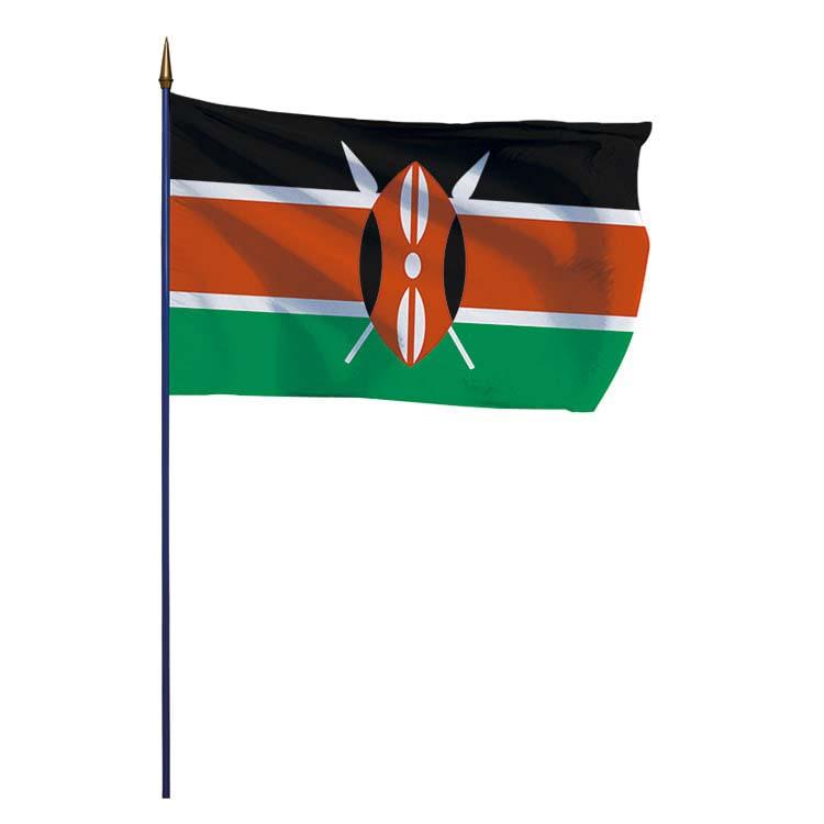 Drapeau Kenya sur hampe