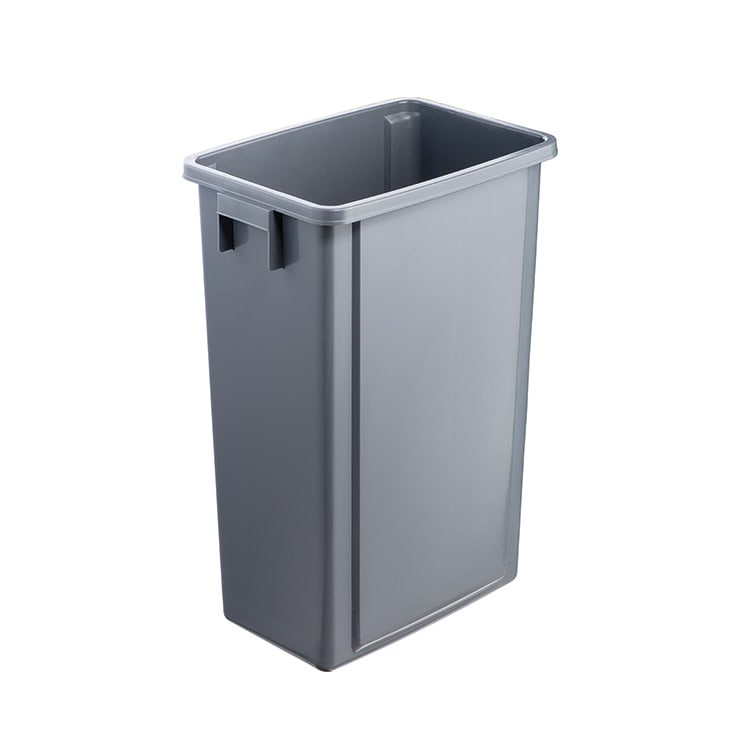 Corbeille Office grise sans couvercle - 60 litres
