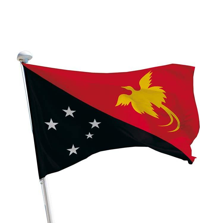 Drapeau Papouasie Nouvelle-Guinée pour mât