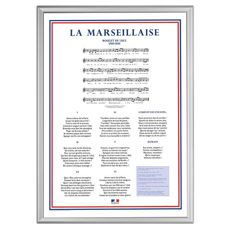 Cadre mural chant de La Marseillaise
